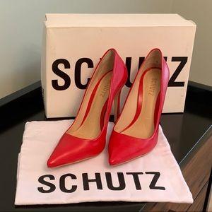 NWT!! Red Leather SCHUTZ Pumps